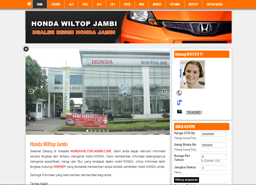 website sales otomotif murah
